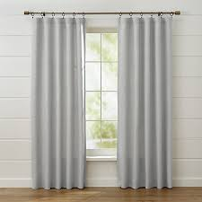 Grey Linen Curtains Largo Grey Linen Curtain Panels Crate And Barrel