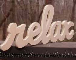 relax letters etsy