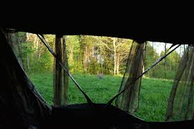 Ground Blinds For Deer Hunting Tips For Setting Up Ground Blinds Under Roosted Birds Muddy Outdoors
