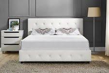 dhp dakota faux leather upholstered bed white full 029986402752 ebay