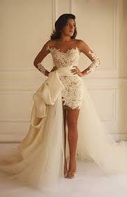high low wedding dress with sleeves arabic lace wedding dresses sweetheart high low wedding gowns
