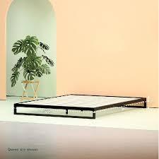 steel low profile platform bed frame zinus