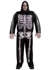skeleton halloween ideas skeleton plus size costume men u0027s plus size scary costume ideas