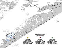 map of galveston tpwd galveston island state park paddling trail