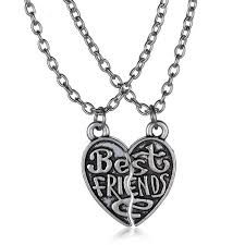 best friends heart necklace images Couple necklaces quot best friends quot puzzle necklace broken heart jpg