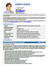 cv software does your software developer s cv look professional andriy buday
