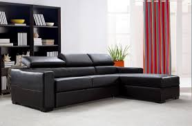 Modern Sofa Bed Sectional Divani Casa Flip Reversible Espresso Leather Sectional Sofa Bed