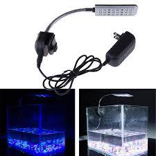 24 aquarium light bulb 9cm 12v 24 led aquarium light 2 mode clip fish tank light white and