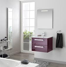 salle de bain aubergine et gris meuble sous vasque seducta 90 cm 2 tiroirs aubergine alterna
