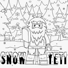 coloring pages kids cartoon winter forest iceland printable lego