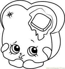 Toastie Bread Shopkins Coloring Page Free Shopkins Coloring Bread Coloring Page