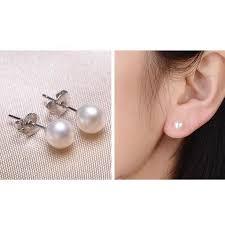 earrings malaysia pearl white stud new women earrings 11street