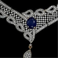 necklace set blue stone images Blue stone american diamond necklace set jpg