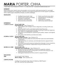 Health Care Aide Resume Sample by Medical Resume Experience Resumes