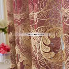 Sheer Maroon Curtains Yarn Fabric Patterned Burgundy Sheer Curtains