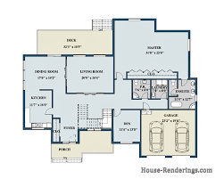 Color Floor Plan Floor Plans