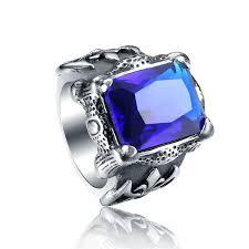 Viking Wedding Rings by Uk Rings Blue Red Stones Viking Wedding Bands For Men Stainless