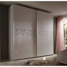 cdiscount armoire de chambre armoire moderne porte coulissante laquée blanche ambroise 240cm