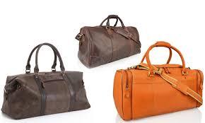 Kansas Mens Travel Bag images Men 39 s leather weekend travel bags groupon goods jpg