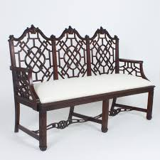 Chinese Chippendale Bench Antique English Chinese Chippendale Settee