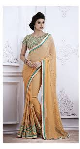 Light Orange Color by Party Wear Light Orange Color Saree