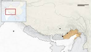 Himalayan Mountains Map India Moves Mountains To Build Military Road To China Border Wsj