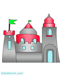 castle coloring pages kids color print