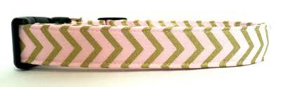 dog collar mardi gras chevron the metallic collection pink and gold chevron zig zag stripe dog