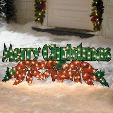 modern decoration outdoor lighted merry sign merry