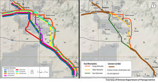 Map Of Chandler Az Adot Finalizes Three Proposed Routes For Phoenix Tucson Commuter
