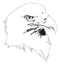bald eagle animal airbrush stencil air brush template stencil