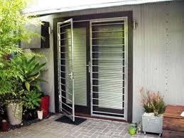 metal glass doors modern glass door with metal security door exterior security
