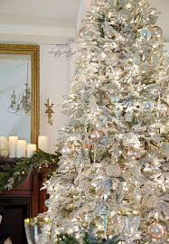 flocked christmas tree 37 awesome silver and white christmas tree decorating ideas