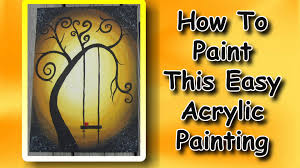 painting for how to paint an easy acrylic painting for beginners