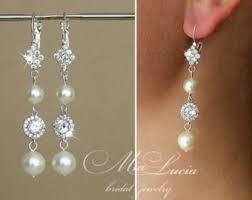 Vintage Pearl Chandelier Earrings Pearl Bridal Earring Etsy