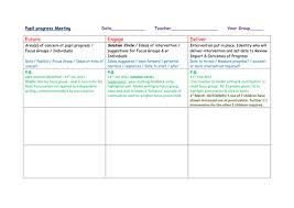 pupil report template pupil progress meeting template by richt23 teaching resources tes