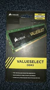 bureau corsair corsair valueselect ddr3 ram 8gb in nottingham nottinghamshire