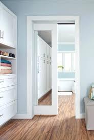 Pocket Closet Door Pocket Door With Mirror Akapello