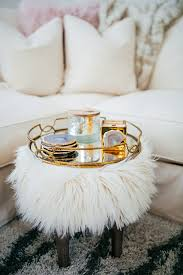 Faux Fur Ottoman Glamorous And Fabulous Faux Fur Ottomans Megan Morris