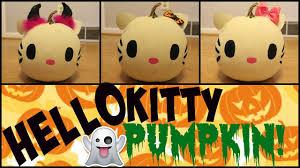 hello kitty halloween pumpkin diy youtube