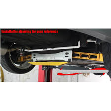 mitsubishi mirage jdm tansky aluminum neochrome jdm rear suspension subframe brace