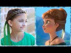 anna from frozen hairstyle frozen hair tutorials elsa and anna hacks updo royals and