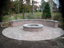 Patio And Firepit Paver Patio Firepit Outdoor Pit Design Ideas Spaces And