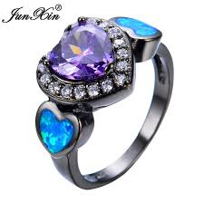 aliexpress buy junxin new arrival black aliexpress buy junxin blue opal heart purple
