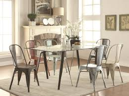 105611 bellevue 5pc dining set by coaster w metal legs u0026 chairs