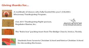 2017 thanksgiving dinner project thank you agape flights