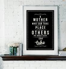 retro mother mom mum quote art print vintage typography decor