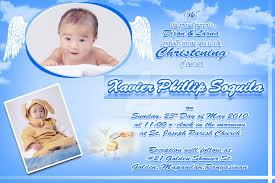 Sample 1st Birthday Invitation Card Baptismal Invitation U2013 Gangcraft Net