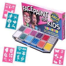 paint kit with 30 stencils xx large face painting set for kids