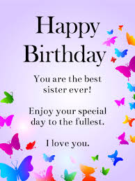 Happy Fourth Birthday Quotes Send Free For My Awesome Sister Happy Birthday Wishes Card To